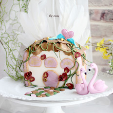 爱的小屋----翻糖蛋糕