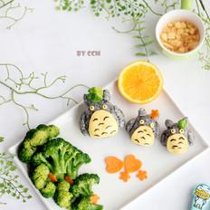 龙猫三文鱼芝士饭团