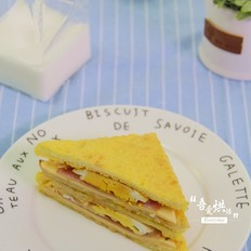 10分钟的快手早餐——芝士火腿三明治