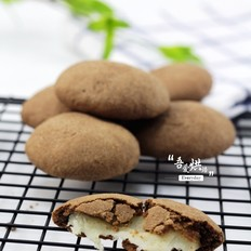 会拉丝的巧克力麻薯饼