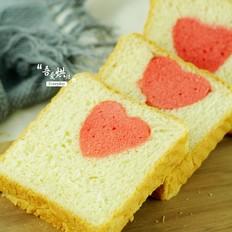 为家人做一份超暖心的——爱心蛋糕吐司