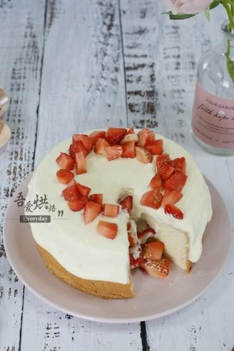 草莓雪崩蛋糕(6寸)的做法
