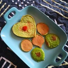 斑斓粉鸡蛋饼的做法