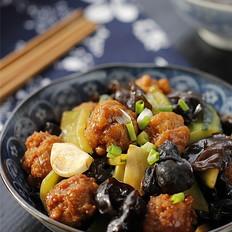 焦熘豆腐丸子