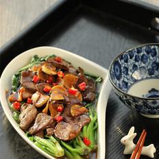 蚝油猪肝菠菜