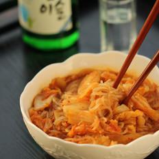 泡菜炒红薯粉