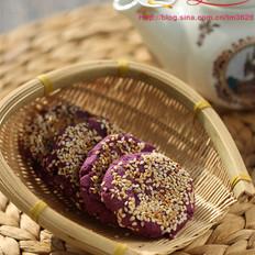 紫薯豆沙饼