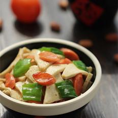 香肠炒千叶豆腐