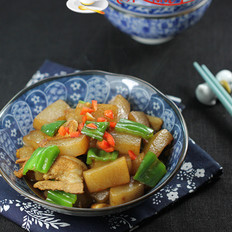 青椒魔芋肉片