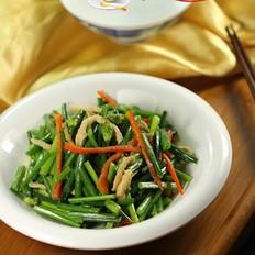 韭菜薹炒鸡丝