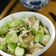 丝瓜炒猪肚菇