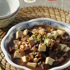 香菇肉末双色豆腐