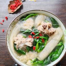 竹荪菠菜骨汤