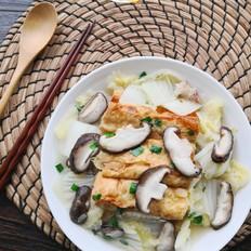 香菇白菜烩豆油皮卷