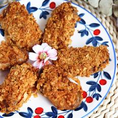 低脂无油的薯片烤鸡翅
