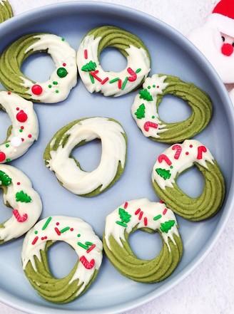 圣诞花环曲奇饼干的做法