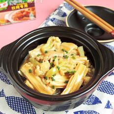 花菜肉片炖腐竹
