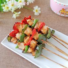 彩椒鸡肉串