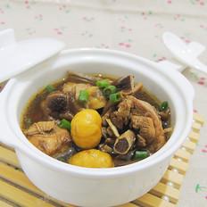 茶树菇板栗炖鸡