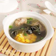 海带结玉米排骨汤的做法