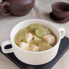 茶香丝瓜豆腐汤