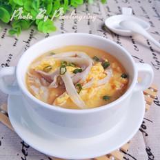 平菇鸡蛋汤
