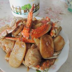 螃蟹炒年糕的做法大全