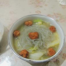 白菜肉丸粉丝汤