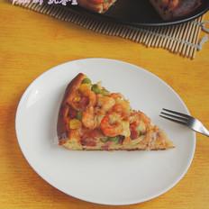 虾仁培根披萨