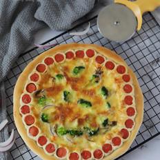 香菇火腿花边披萨