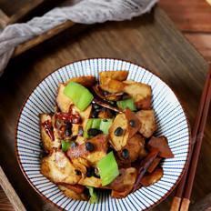 豆豉青椒炒香干的做法