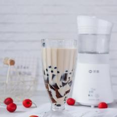 烧仙草珍珠奶茶
