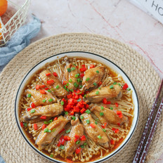 金針菇蒸雞翅