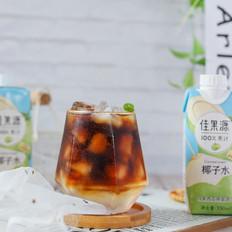 椰子水冰摇咖啡
