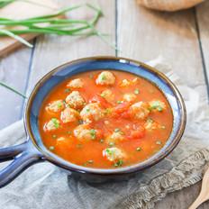 番茄肉丸汤——冬季暖身汤,酸甜开胃超好喝