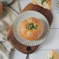 芝麻葱花面包的做法