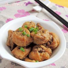 油豆腐镶肉