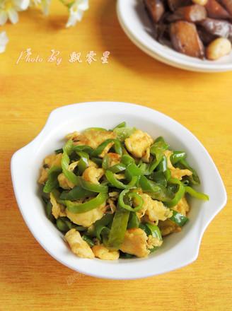 青辣椒炒鸡蛋的做法