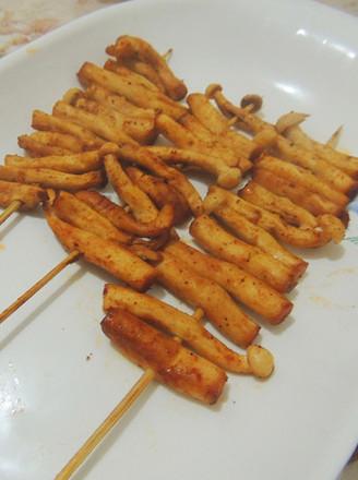 烤海鲜菇的做法