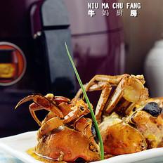 五花肉烤闸蟹
