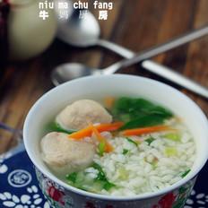 虾丸青菜汤饭