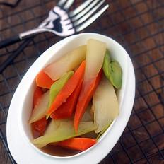 胡萝卜菜心小炒