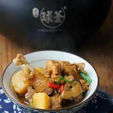 香菇土豆焖鸡