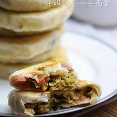 酸菜火腿肉饼