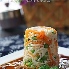 凉拌青豆金针菇
