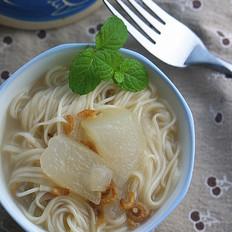 冬瓜虾米汤面