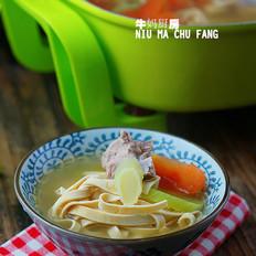 双蔬排骨千张汤
