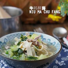 牛肉千张青菜汤