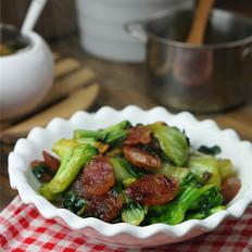甜肠炒青菜
