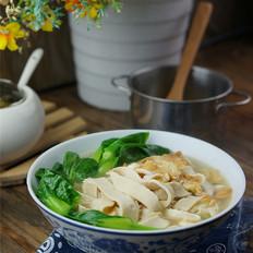鸡蛋豆皮青菜汤